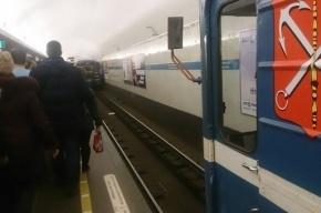 Петербуржцы опаздывают на работу из-за сломанного состава в метро