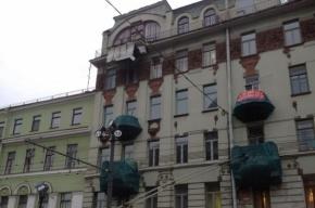 Частично обрушился балкон на Казанской площади