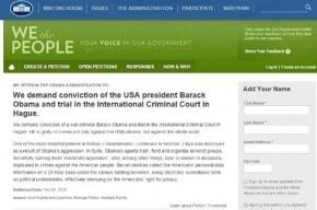 Петиция с требованием судить Обаму появилась на сайте Белого дома