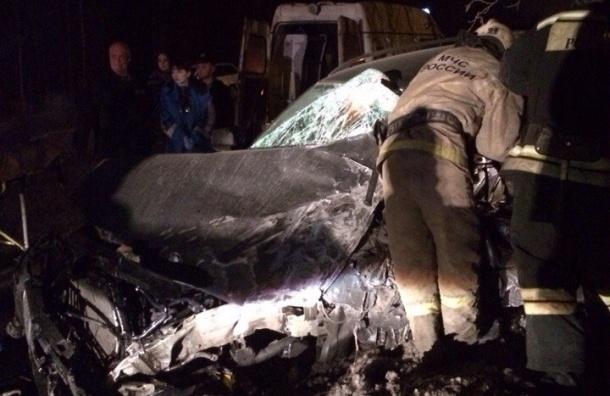 БМВ с пьяным «в стельку» водителем на скорости врезался в лоб автобусу с людьми