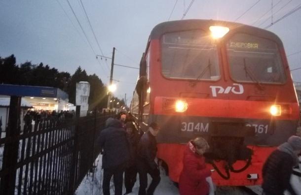 Электричка сбила человека на станции Всеволожская