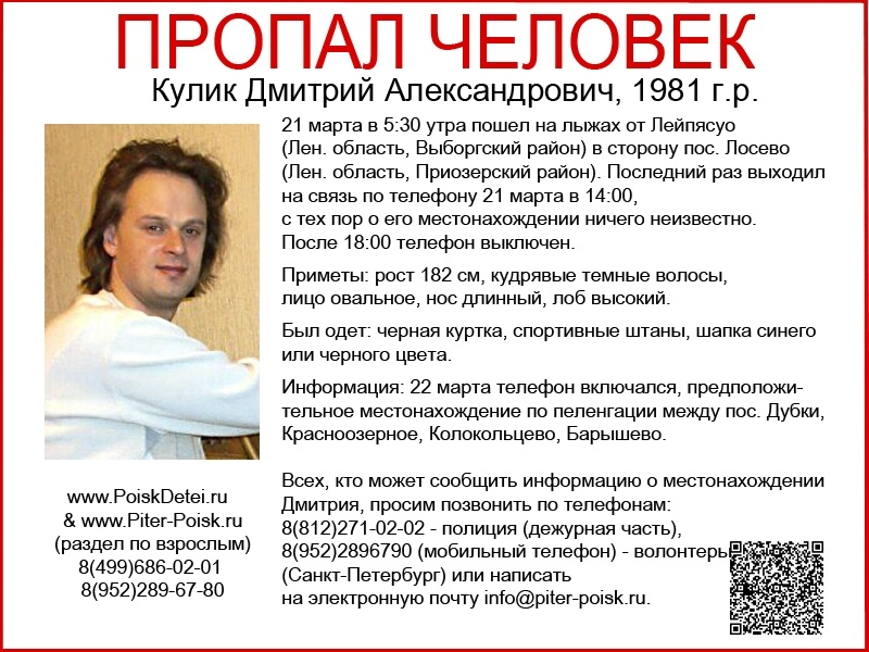 Кулик Дмитрий Александрович, 1981 г.р.