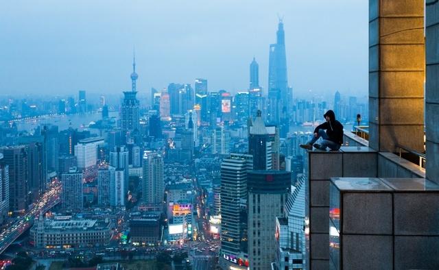 _На краю. Шанхай, Китай. 2014 год. Виталий Раскалов.