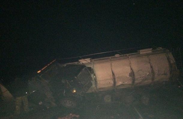 Два грузовика, Газель и кроссовер попали в ДТП в Волосовском районе