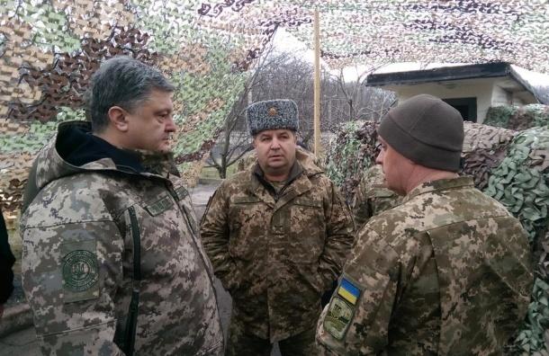 Порошенко уехал в Донбасс