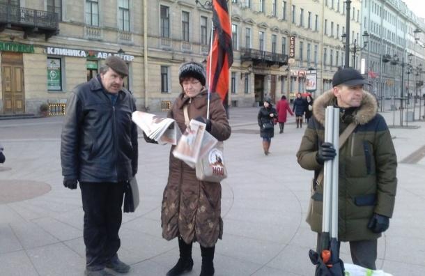 Первая пикетчица за Савченко задержана на Невском