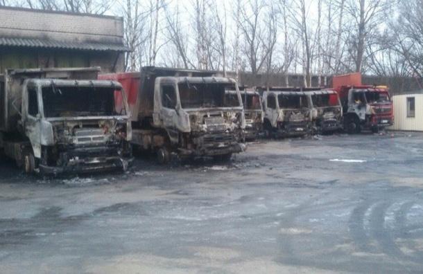 Массовый автомобильный пожар произошел ночью на Полюстровском проспекте