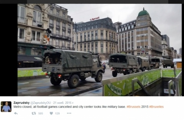 Бельгия закрыла границы, введен высший уровень террористической угрозы