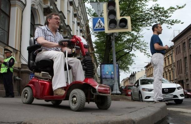 Электромобиль инвалида угнали в Петербурге