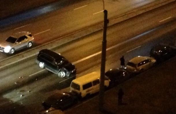 Очевидцы: Массовое ДТП на Кушелевской дороге спровоцировал пьяный водитель
