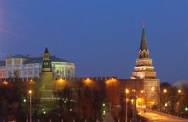 Подсветка Кремля в честь «Часа Земли» погасла