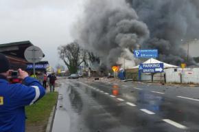 Мощнейший взрыв на складе пиротехники произошел на границе Германии и Польши