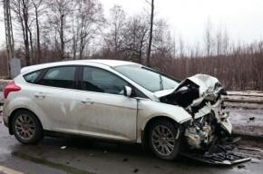 Ребенок пострадал в аварии на Петергофском шоссе