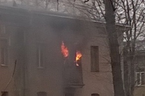 Очевидцы: пенсионер погиб в пожаре на Крупской