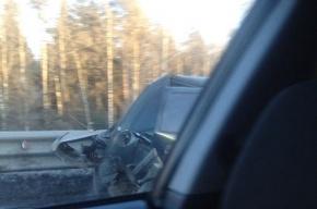Пробка на КАД образовалась из-за двойного ДТП в районе Колтушского шоссе