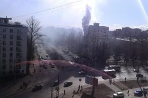 Пожар случился в доме на улице Подводника Кузьмина