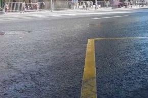 Дорожники поливают улицы Петербурга водой при -5°C