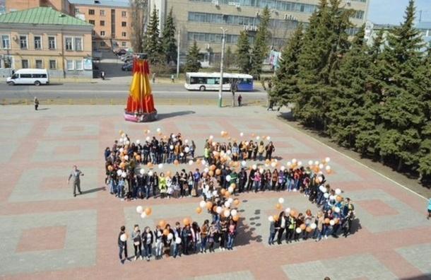 Курьез на Дне космонавтики в Пензе: огромная цифра 55 была похожа на свастику