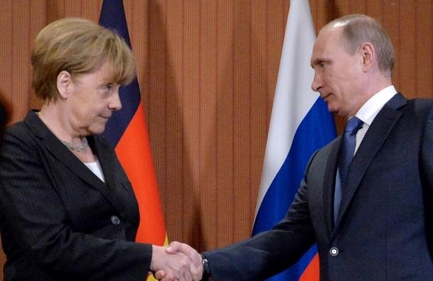 Путин обсудил с Меркель ситуацию на Украине