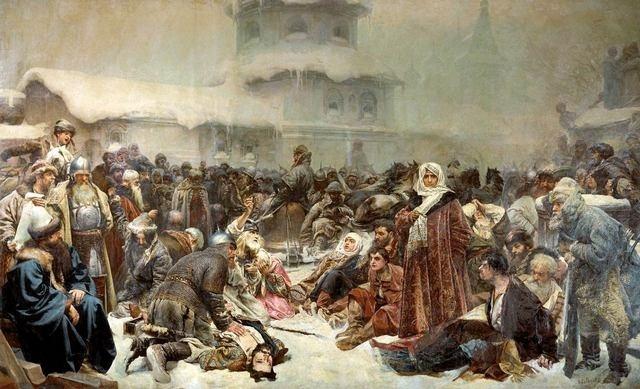 _Марфа Посадница. Уничтожение новгородского веча. Клавдий Лебедев