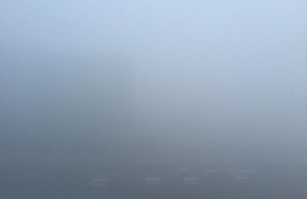 Санкт-Петербург накрыл туман