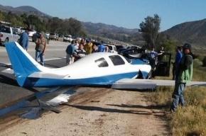 Самолет упал на автомобиль в Калифорнии