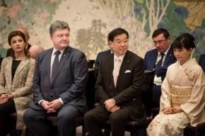 Глава фракции Порошенко задремал на встрече в Токио