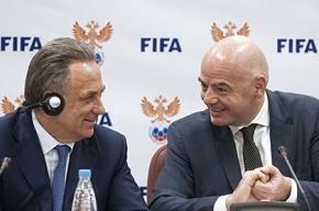 Президент ФИФА обещал выучить русский быстрее, чем Мутко освоит английский