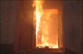 Семья сгорела в квартире в Колпино