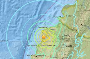 Более 40 человек пострадали из-за землетресения в Эквадоре
