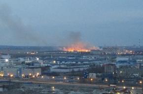 Очевидцы сообщили о возгорании за Буграми