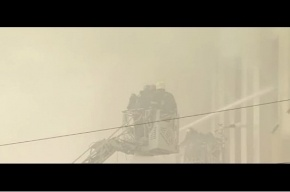 Кадры пожара в здании Минобороны России появились в Сети