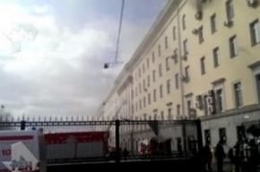 Пожар в Минобороны в Москве потушен