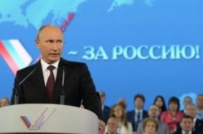 Работа журналистов на выступлении Путина затруднена