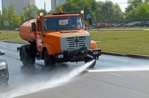 Петербургские дорожники рассказали, почему дороги моют в дождь