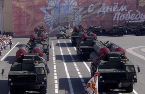 С-400 впервые показали на Дворцовой площади в День Победы