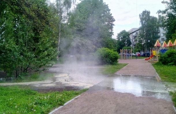 Кипяток залил детскую площадку на Кондратьевском проспекте