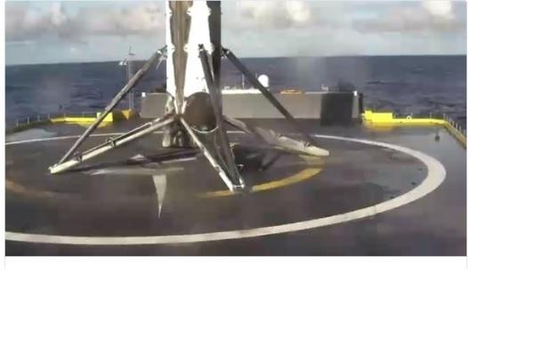 Ступень ракеты Falcon9 приземлилась на морскую платформу