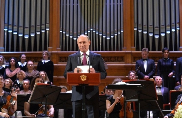 Путин посетил концерт Мариинского театра