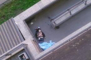 Молодой человек выпал из окна, упав возле слов о любви на асфальте