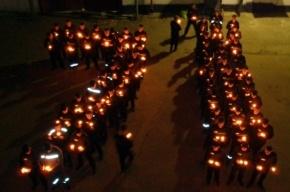 Заключенные из калужской колонии выстроились в цифру 71 в честь Дня Победы