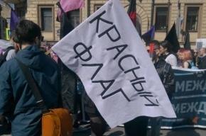 Первомайское шествие в Петербурге посетили в два раза больше человек, чем в Москве