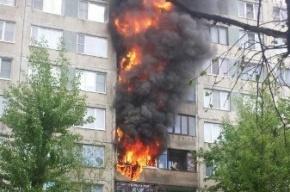 Сильнейший пожар на Белы Куна охватил несколько этажей жилого дома