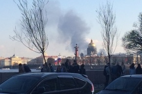 Пожар в депо Балтийского вокзала тушили по повышенному номеру