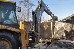 Гаражи, которые мешают строительству проспекта Королева, начали сносить