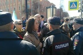 Активистов «Демократического Петербурга» заблокировали полицейские