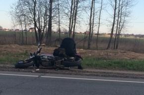 Авария с мотоциклистом произошла в Красносельском районе