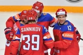 Россия разгромила Данию со счетом 10:1