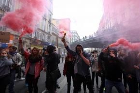 Парижане с боями защищают трудовые права