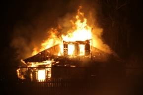 Дом сгорел в Горелово